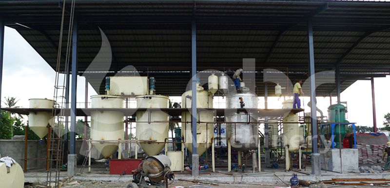10 tons per day coconut oil refining factory in Philippines