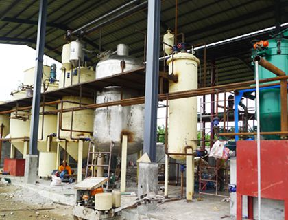 10TPD Small Coconut Oil Refining Line in Philippines - Batch Process