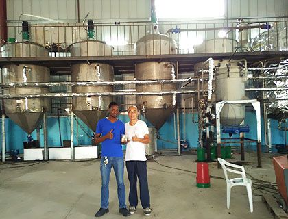 10TP Small Soybean Oil Refining Plant Line in Jamaica
