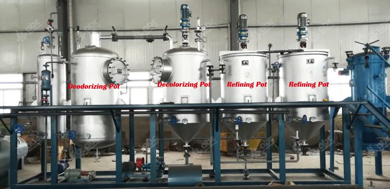 1tpd sunflower oil refinery plant ready to Tanzania