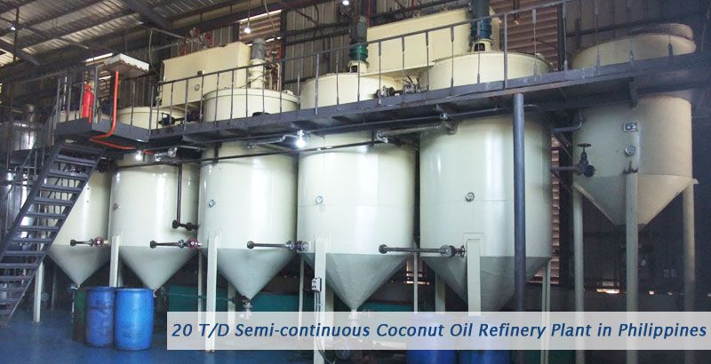 20tpd coconut oil refinery plant built in Philippines