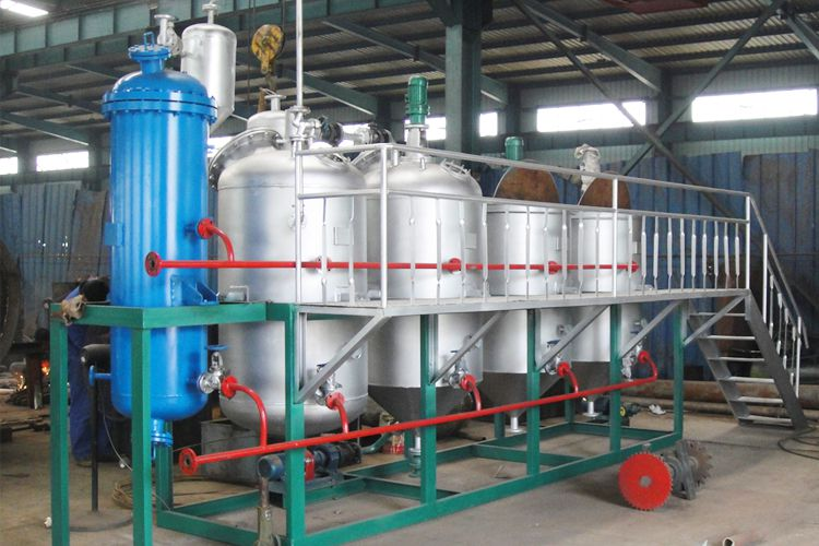 2tpd small canola oil refining unit to Korea