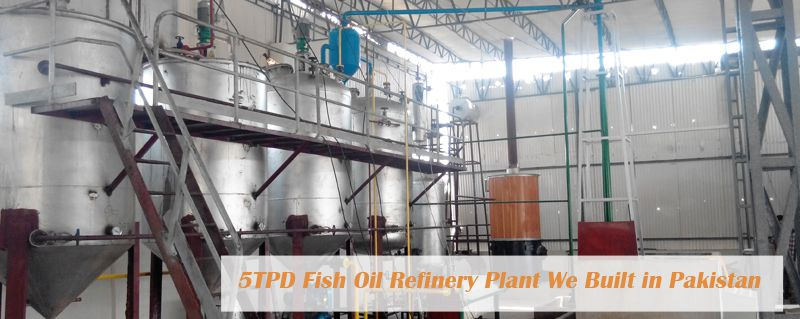 small fish oil refinery plant we built in Pakistan