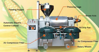 Automatic Corn Oil Processing Machine