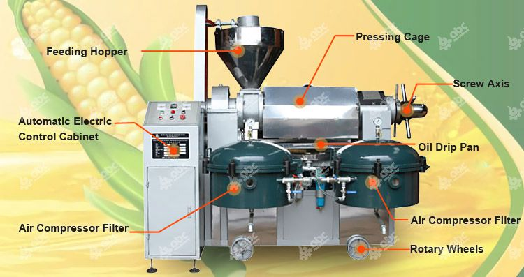 automatic corn oil processing machine for sales