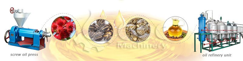 main castor oil processing machine at factory price