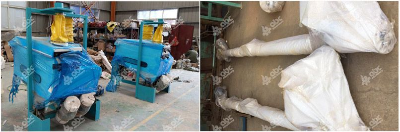 castor seeds cleaning machine and conveyor