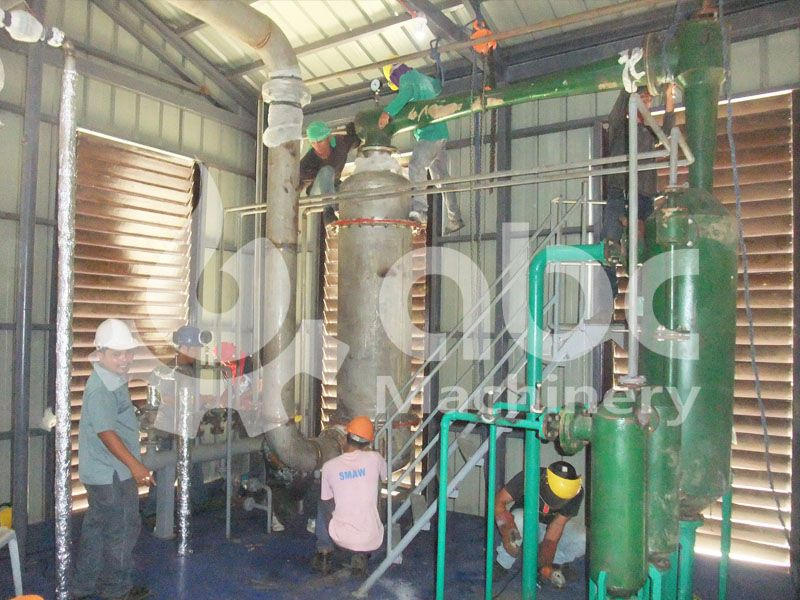 coconut oil refinery machine installation