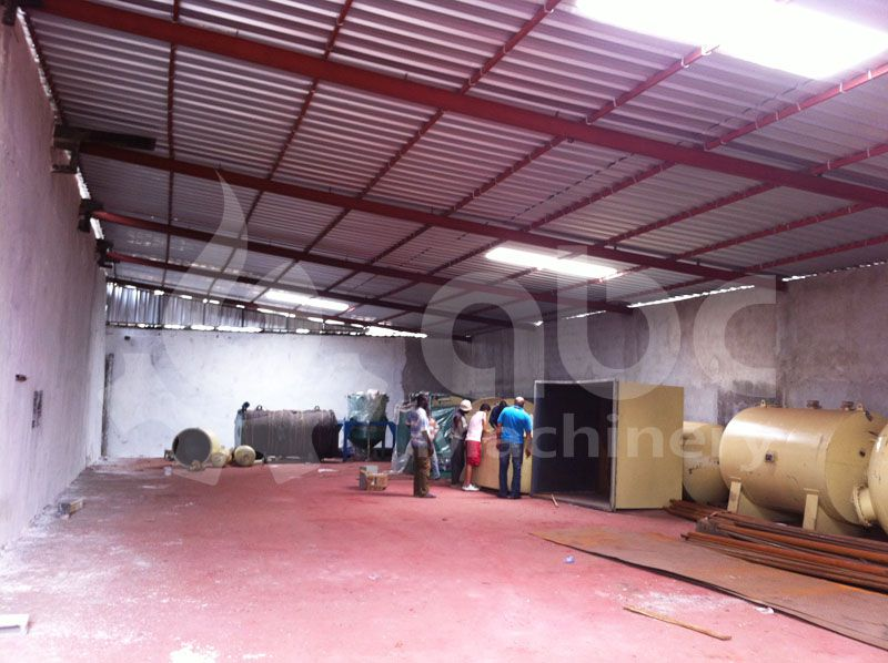 the coconut oil refining factory inside