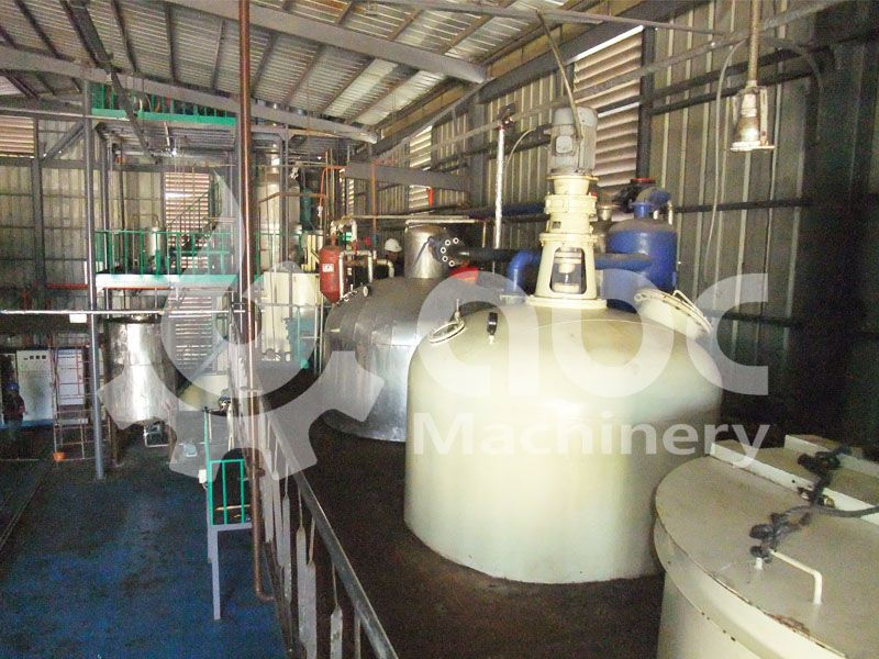 coconut oil refining section
