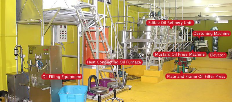 small complete mustard oil making plant