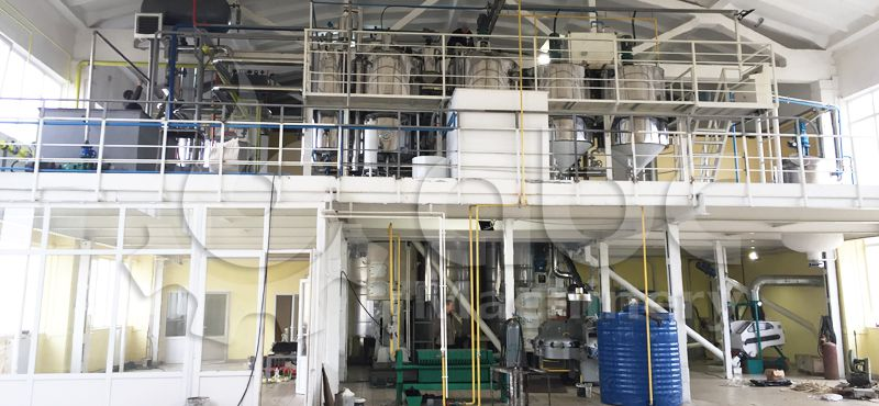 complete oil mill plant project for sunflower oil