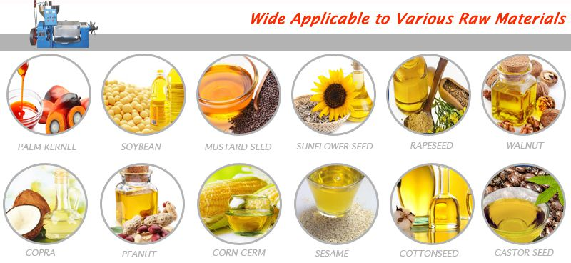 materials suitable for small cooking oil extraction units