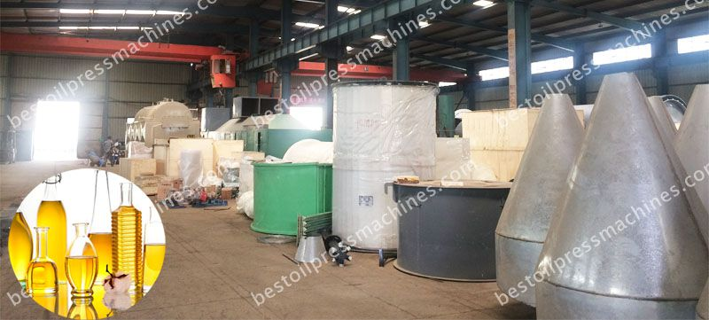 quality inspection of cottonseed oil refinery machinery at factory