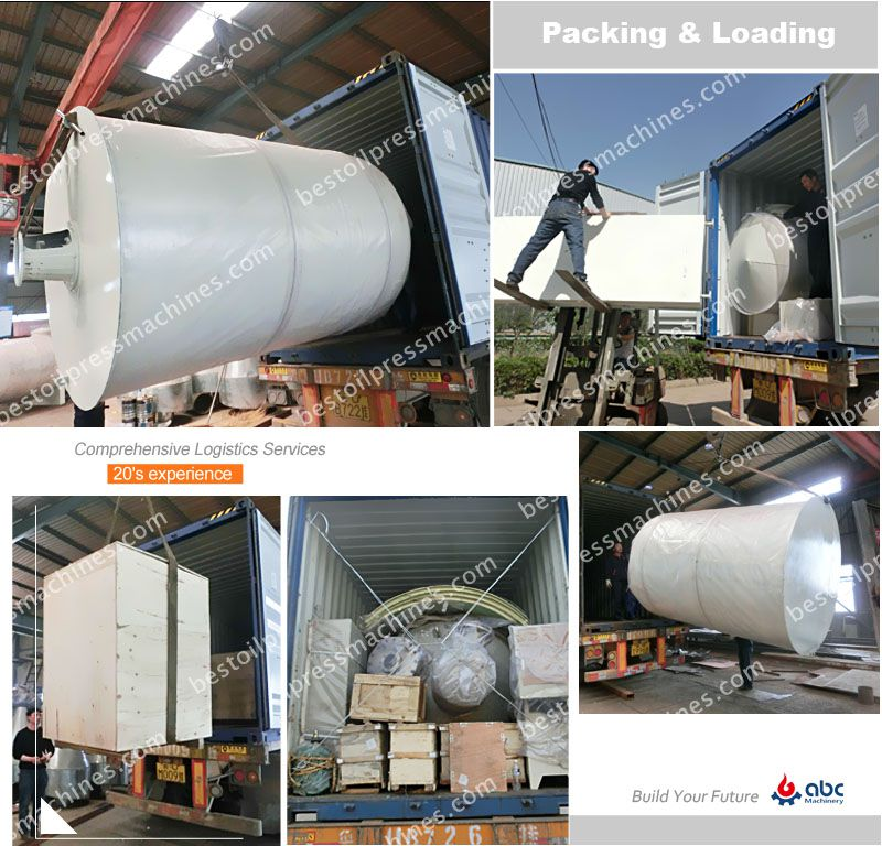 10TPD cottonseed oil refinery machinery loading for shipment