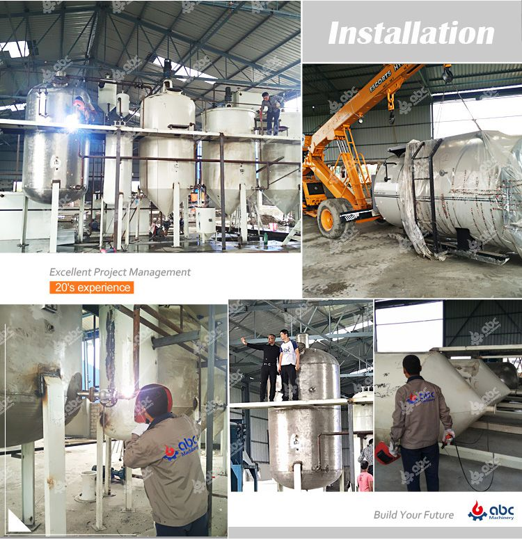 installation of crude oil refinery projects