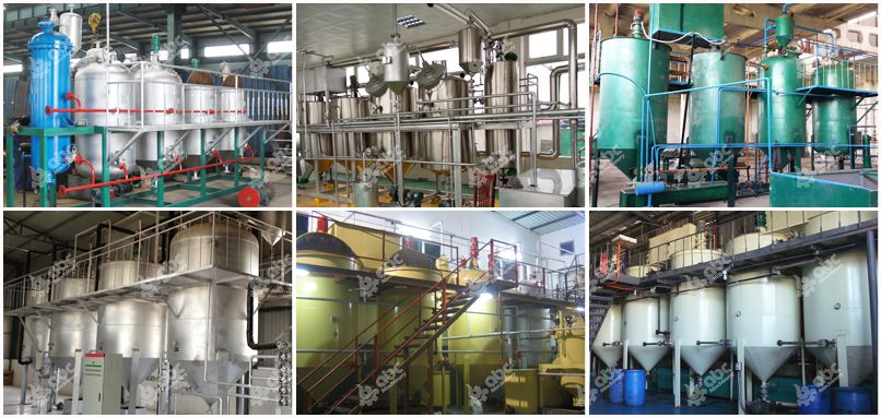 edible oil refining lines at factory price