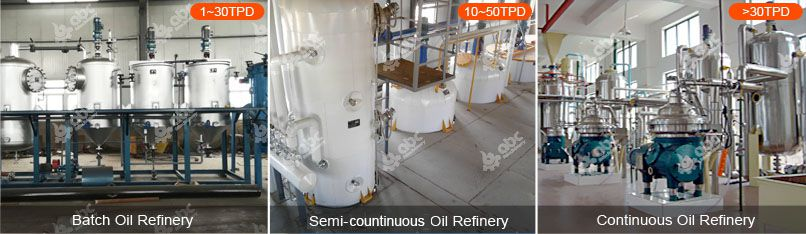 edible oil refining types