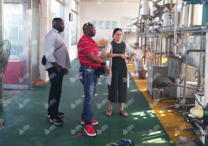 Peanut Oil Making Investors Visited ABC Machinery