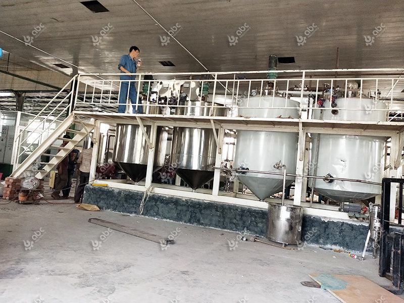 fish oil refining process and machine
