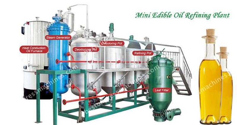 mini oil refining plant for cooking oil