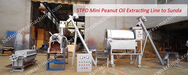 small peanut oil extracting line to Sudan