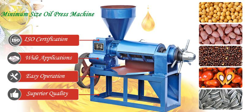 minimum size oil press machine for sales