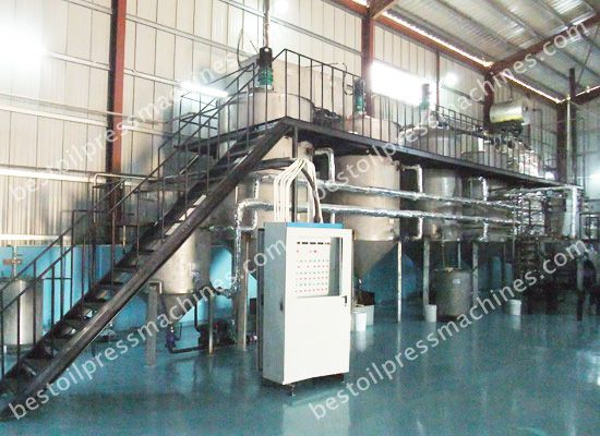 oil refining plant for cooking oil