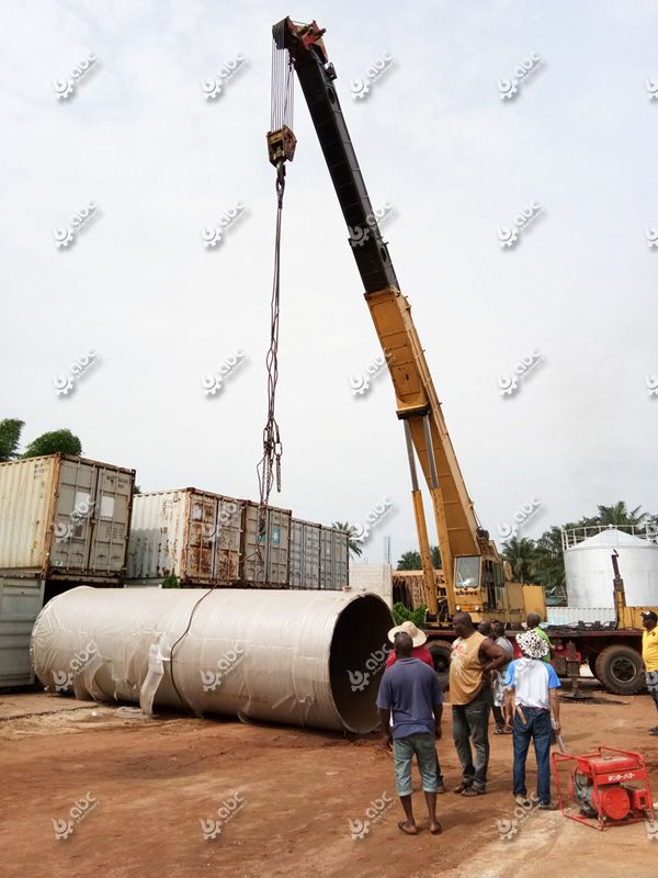 palm kernel oil refinery machine installation on Nigeria factory