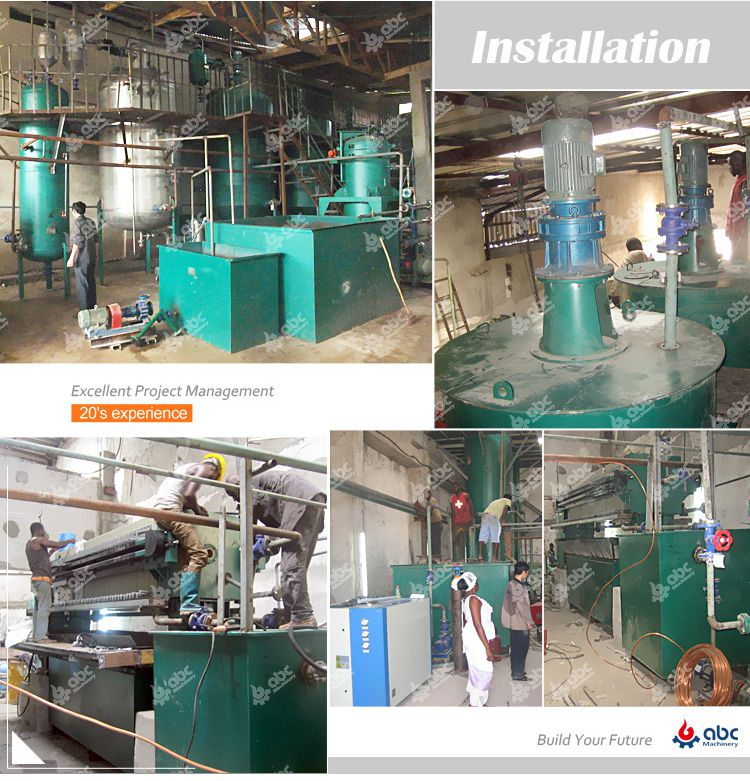 installation of palm kernel oil refinery plant