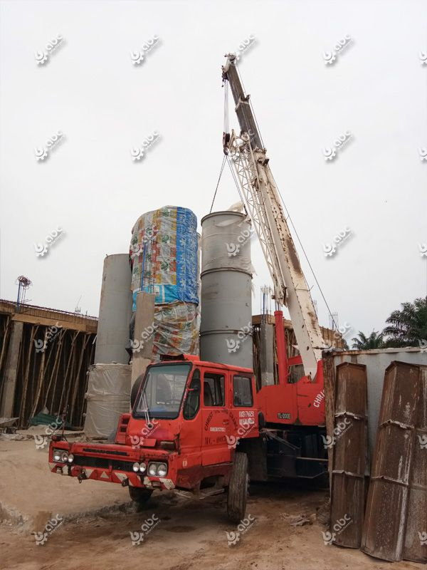 palm kernel oil refining machine installed in Nigeria factory