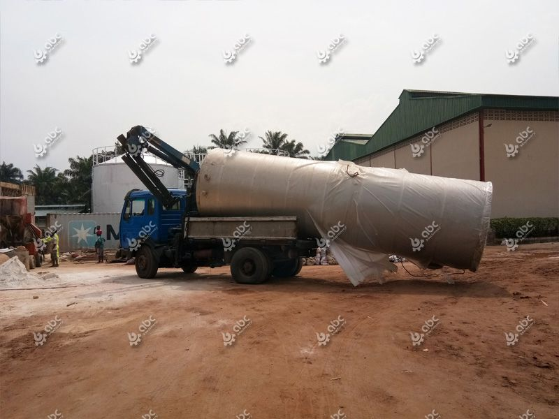 palm kernel oil refining pot onsite installation