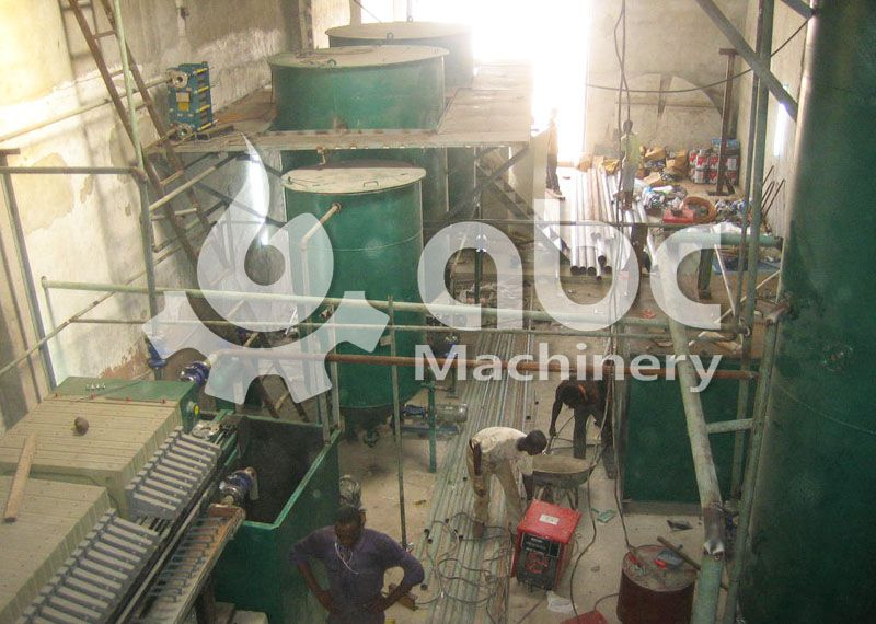 palm oil fractionation machines installation