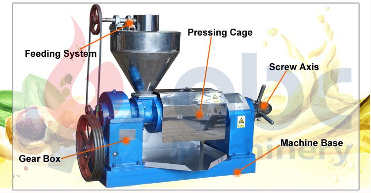 peanut oil extraction machine structure