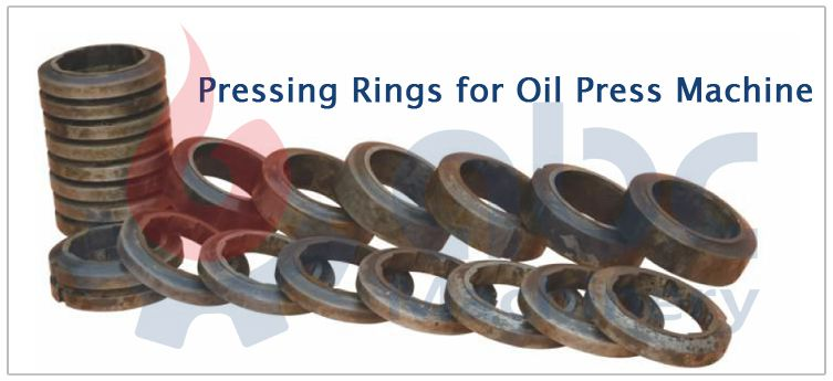 oil press machine pressing rings