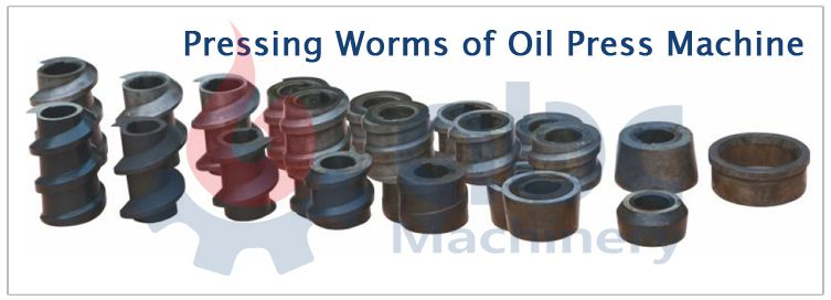 pressing worms of oil press machine