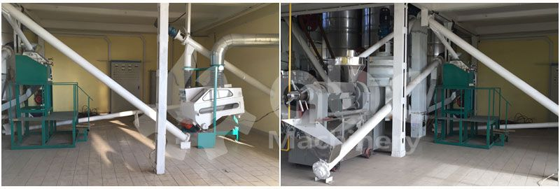 sunflower oil making plant pretreatment section