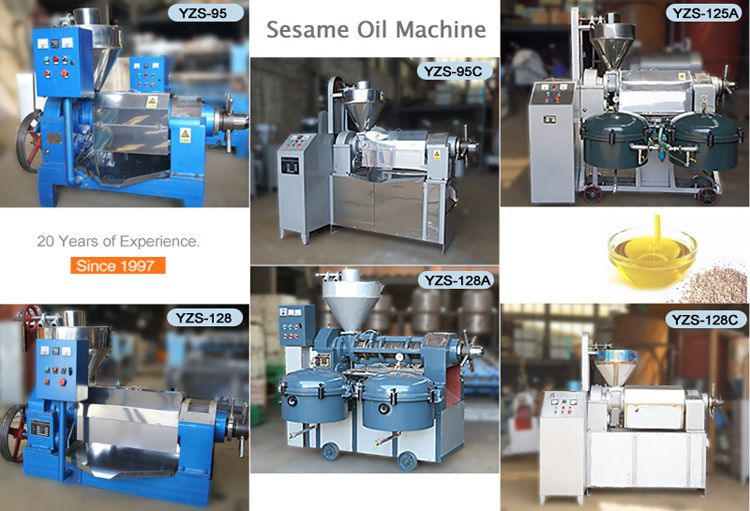 factory price sesame oil processing machines