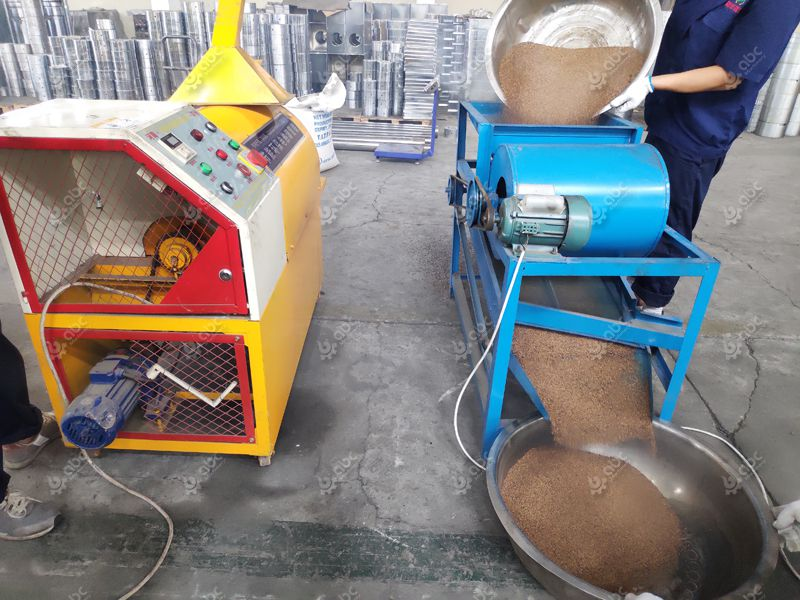 sesame seeds pretreatment for oil extraction
