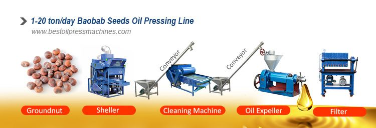 small baobab seed oil production line