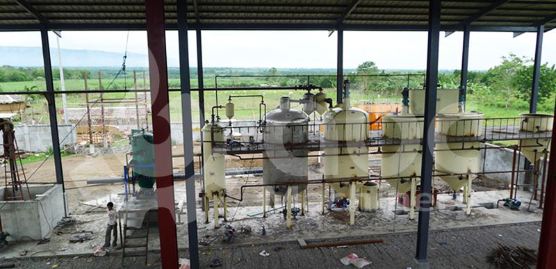 the coconut oil refining machine installation onsite