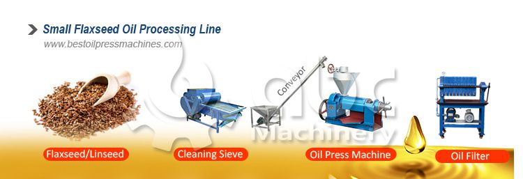 small flaxseed oil processing line for sales