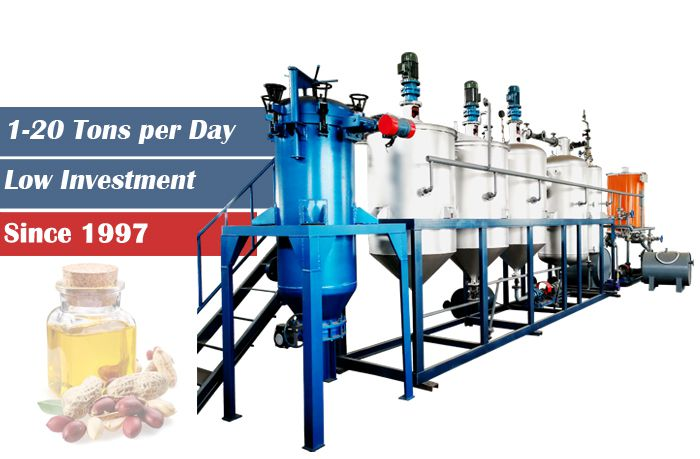 low cost groundnut oil refining plant