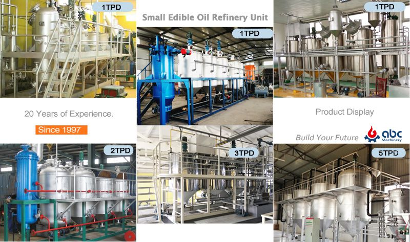 small peanut oil refining plant at factory price