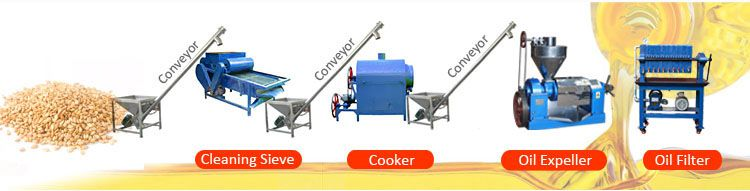 small sesame oil extraction line