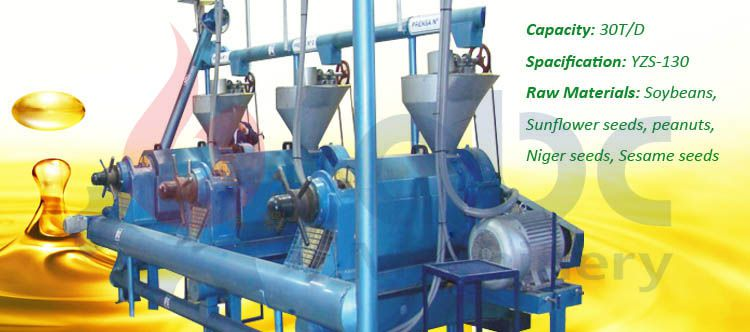 small soybean oil making plant