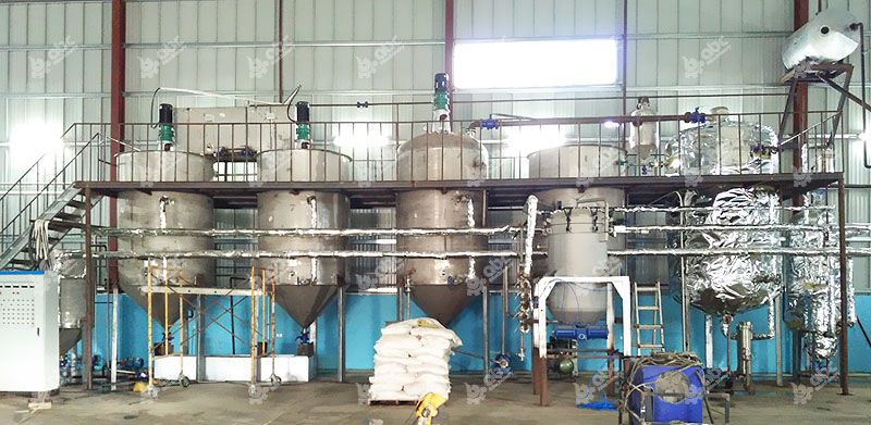 small soybean oil refining line in Jamaica