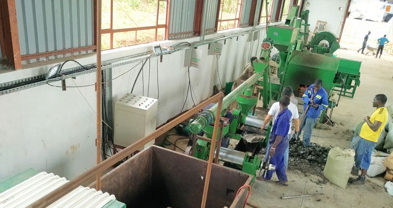 small sunflower oil production line in Africa