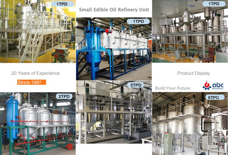 small sunflower oil refinery machine