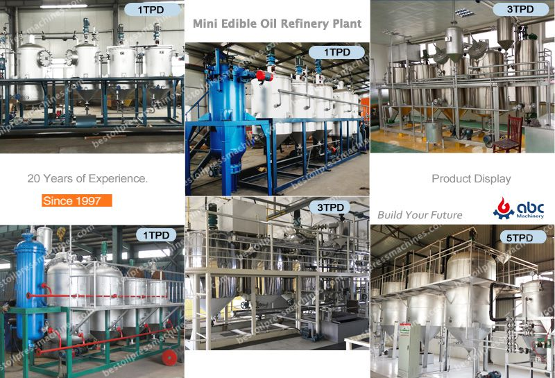 small oil refinery unit for sunflower oil making